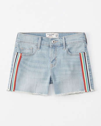 kidsrainbow stripe midi shorts
