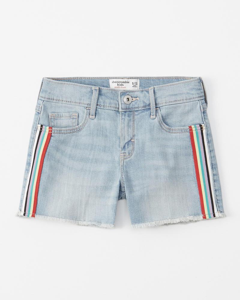 90ceb5a9982 girls rainbow stripe midi shorts