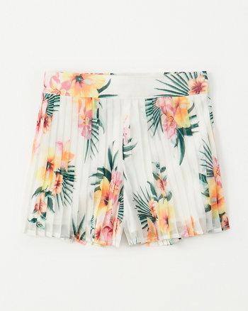 02d05e581df pleated chiffon shorts