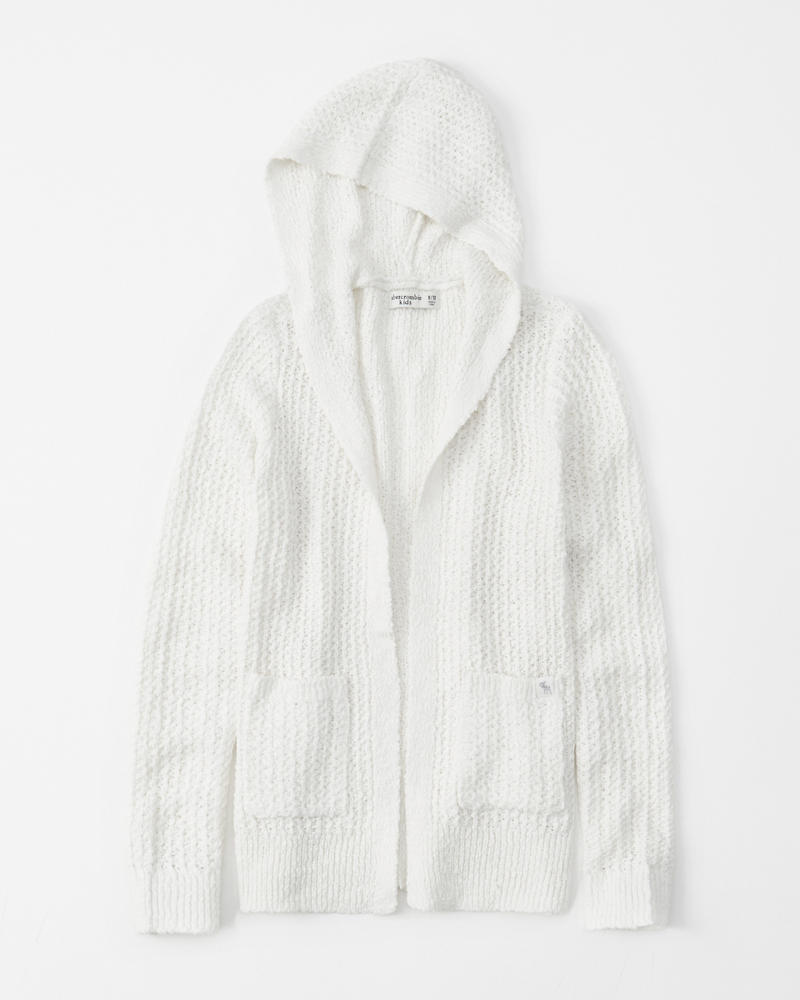 Textured Hooded Cardigan by Abercrombie & Fitch