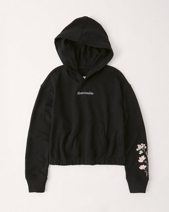 kidslightweight embroidered hoodie