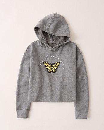 kidsflip-sequin logo hoodie
