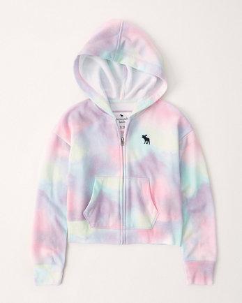 kidstie-dye zip-up icon hoodie
