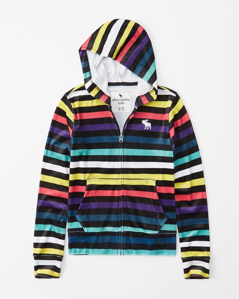 55eeac8d velour full-zip hoodie | Abercrombie.sg