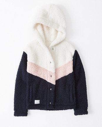 kidssherpa fleece hooded jacket