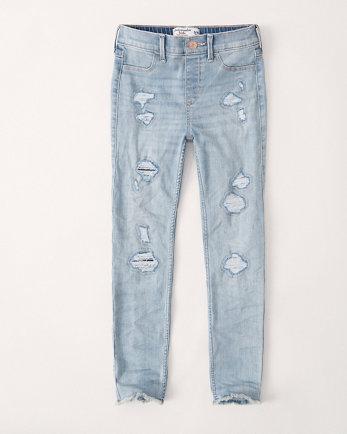 kidshigh-rise pull-on ankle jean leggings