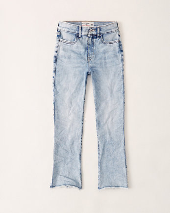 kidshigh rise ankle flare jeans