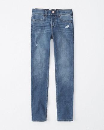 kidsmid rise ripped super skinny jeans