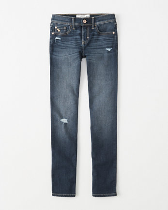 kidsmid rise ripped skinny jeans