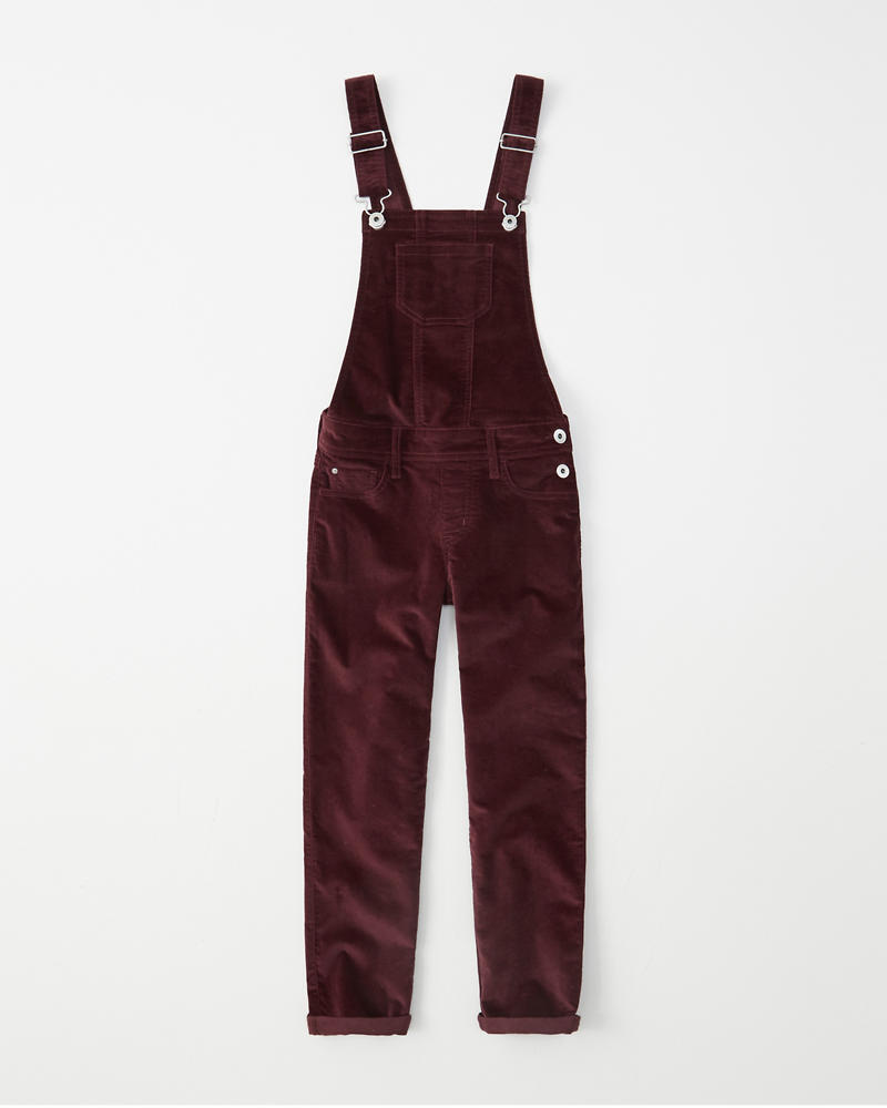 Velvet Burgundy Overalls by Abercrombie & Fitch