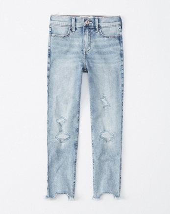 1b8f9e457da high rise super skinny ankle jeans, light wash ...