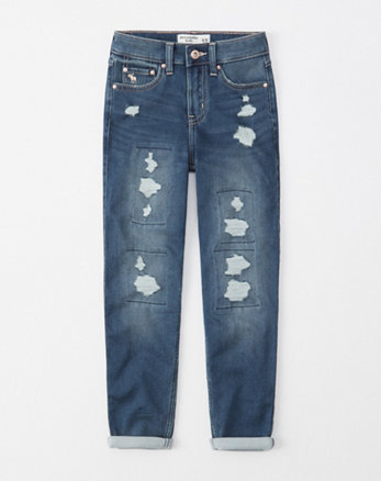 d797fb565 ... ripped high rise mini mom jeans, destroyed medium wash, Alternate