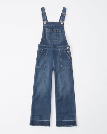 kidscropped wide-leg overalls