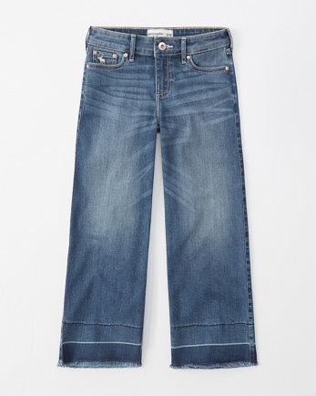 kidscropped wide leg jeans