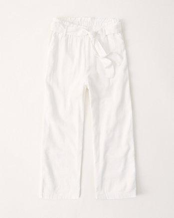 kidshigh rise tie-waist pants