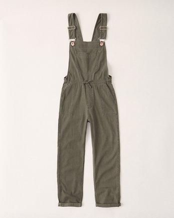 kidsmid rise twill overalls