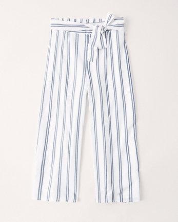 kidshigh rise tie-waist wide leg pants