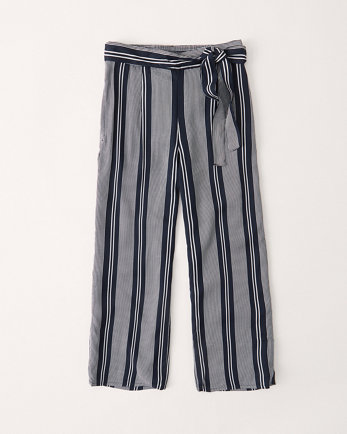 kidshigh rise wide-leg belted pants