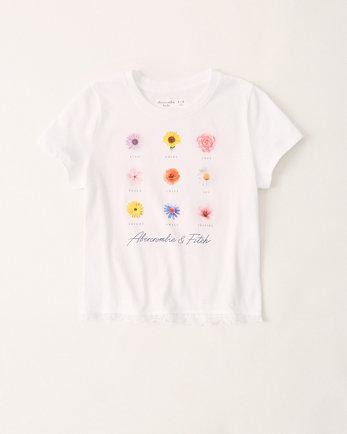 kidslace-trim graphic tee