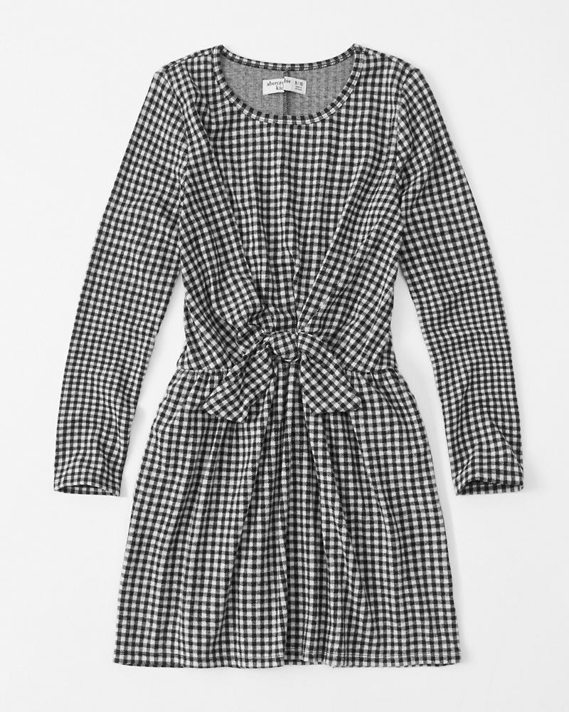 Tie Front Plaid Dress by Abercrombie & Fitch