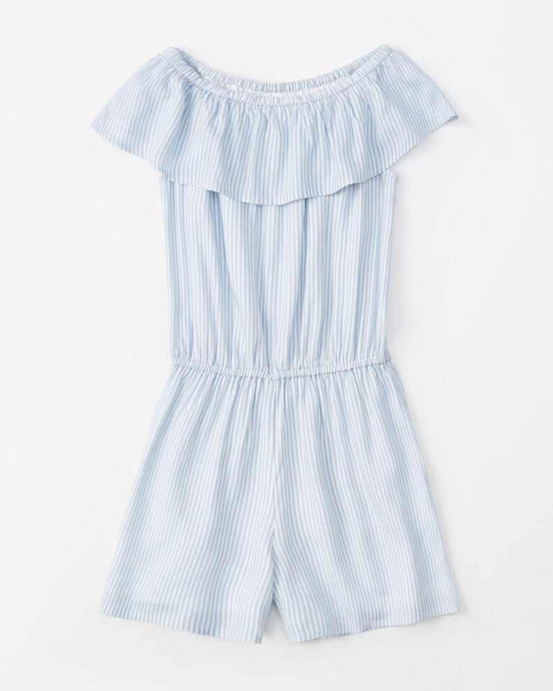 Off The Shoulder Ruffle Romper by Abercrombie & Fitch