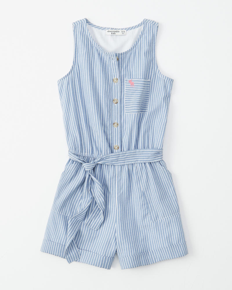 846984f1156 girls button-up wrap-front romper