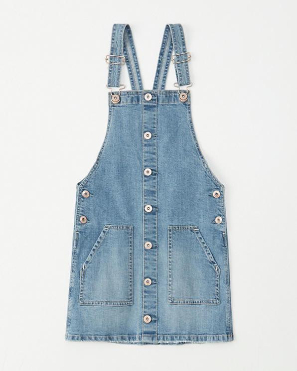 best sale popular brand new items girls denim pinafore dress   girls clearance   Abercrombie.com