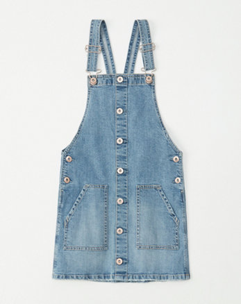 fff67023fc5 girls dresses   rompers. denim pinafore dress