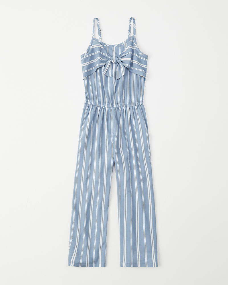 4102e648600 girls strappy tie-front jumpsuit