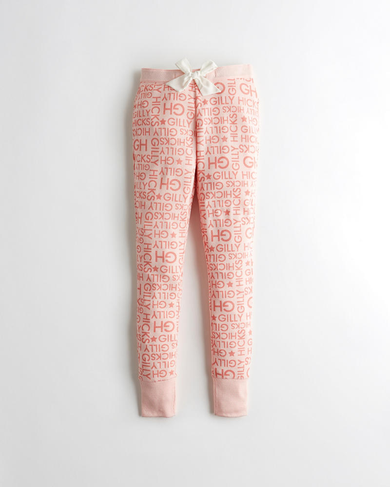 Girls Leggings para dormir con relieve de cuadros | Girls Sleepwear ...
