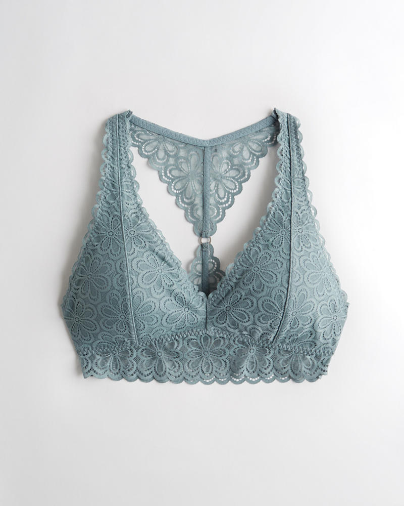 fb421b31bb2b1 Lace Racerback Bralette With Removable Pads
