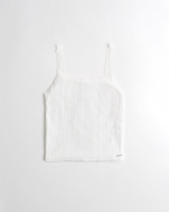 lace-trim-sleep-cami by hollister