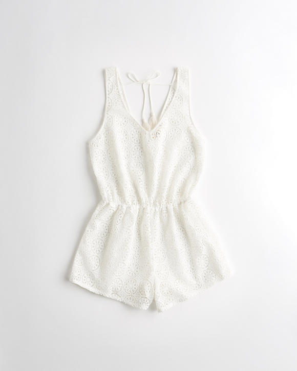 Lace Cover Up Romper by Hollister