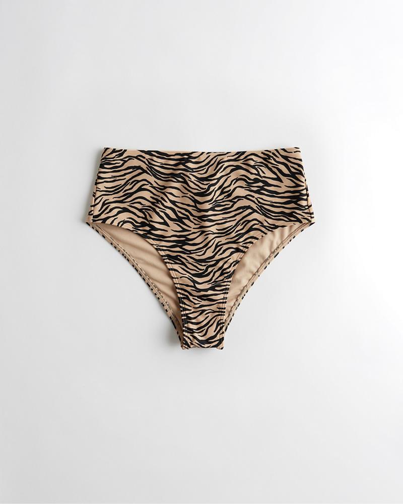be321bf7d0 Girls High-Waist High-Leg Bikini Bottom | Girls Swimwear ...