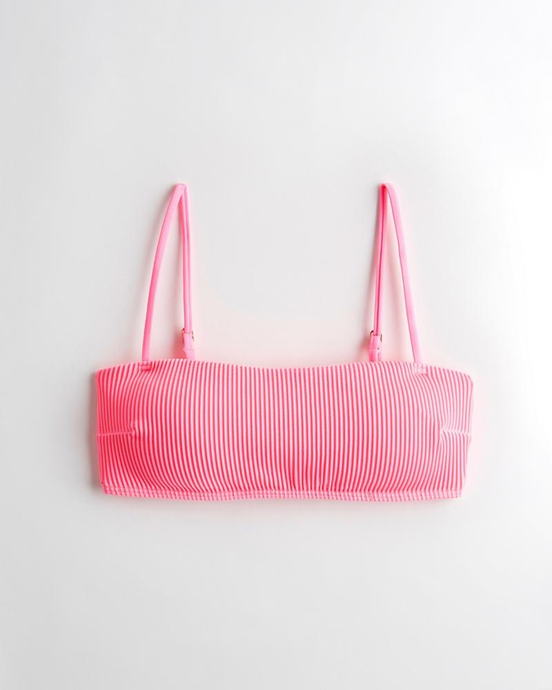 c0a31b4db8b0d4 Girls Ribbed Square-Neck Bikini Top | Girls Swimwear | HollisterCo.com
