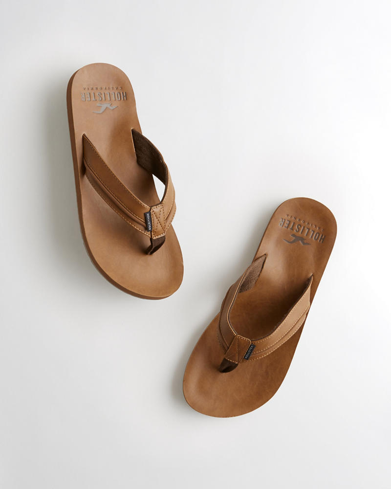 be06f08c513 Guys Faux Leather Flip Flop | Guys Accessories & Shoes | HollisterCo.com