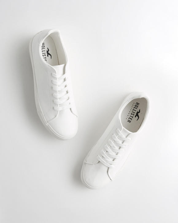 Hollister Lace Up Faux Leather Sneaker by Hollister