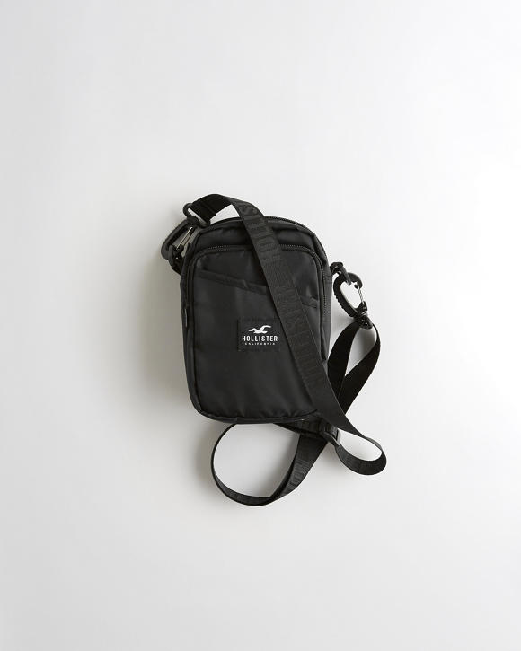 Logo Messenger Bag by Hollister