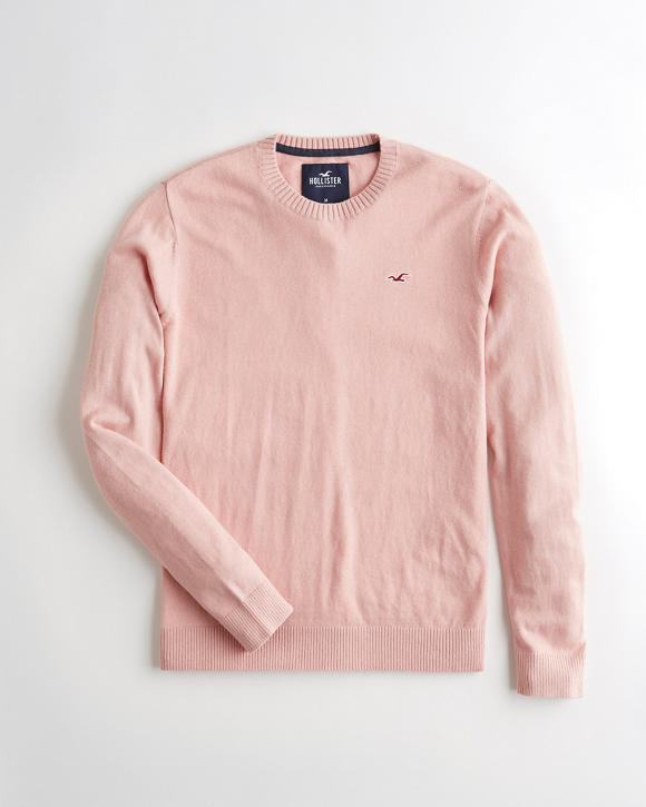 Guys Lightweight Crewneck Sweater Guys Tops Hollistercocom