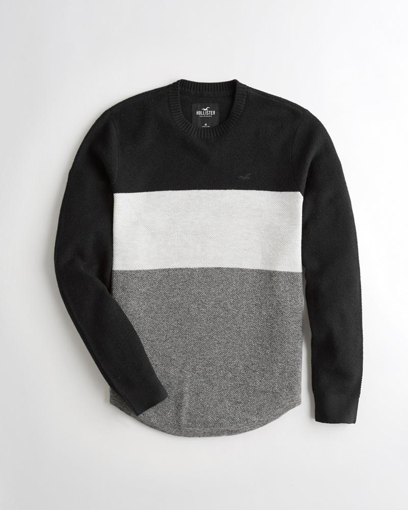 eba93b773fb4d0 Guys Textured Crewneck Sweater | Guys Sale | HollisterCo.com