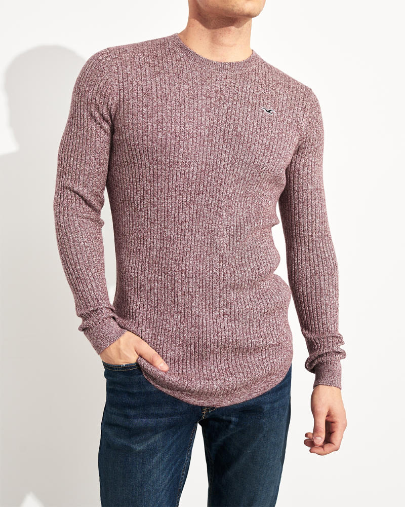 16e780b27 Guys Ribbed Muscle Fit Crewneck Sweater | Guys Clearance ...