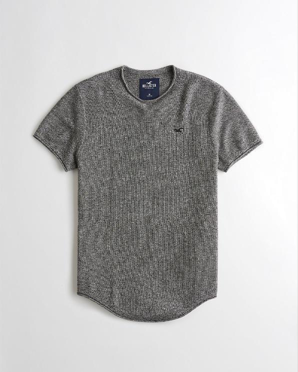 Guys Textured Knit T-Shirt | Guys Tops | HollisterCo com