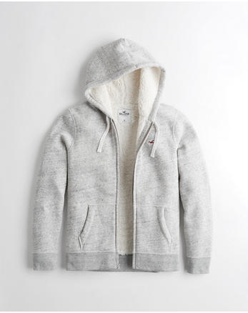Sherpa-Lined Full-Zip Hoodie a14ad6485