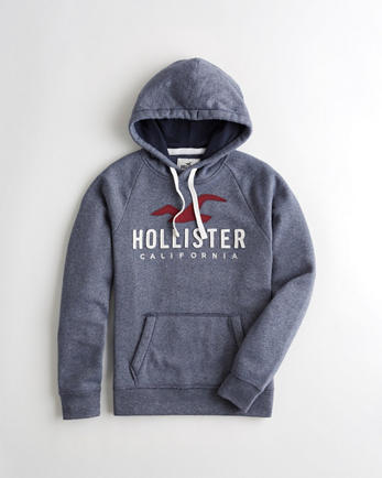 Schwarzer Hoodie Hollister
