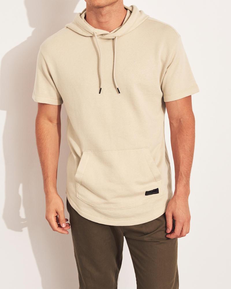 8c27eb1cf7b Guys Curved Hem Short-Sleeve Hoodie | Guys Tops | HollisterCo.com