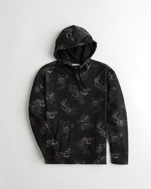 Guys Floral Box Logo Hoodie | Guys Clearance |