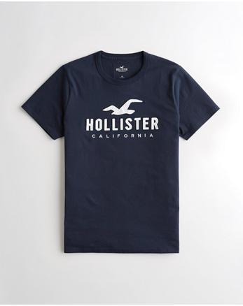T-shirt graphique à logo appliqué, BLEU MARINE 3628b61f886c