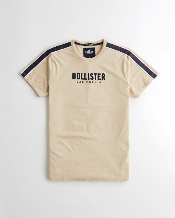 Sleeve Stripe Graphic Tee by Hollister