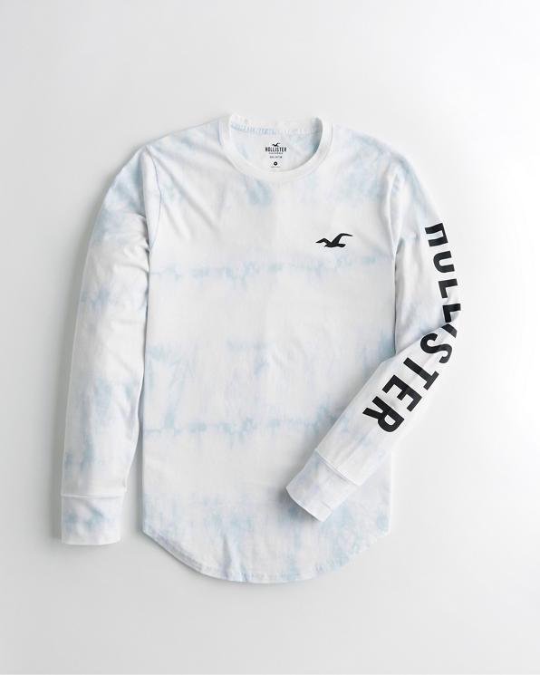 Guys Tie Dye Print Logo Graphic Tee | Guys Clearance