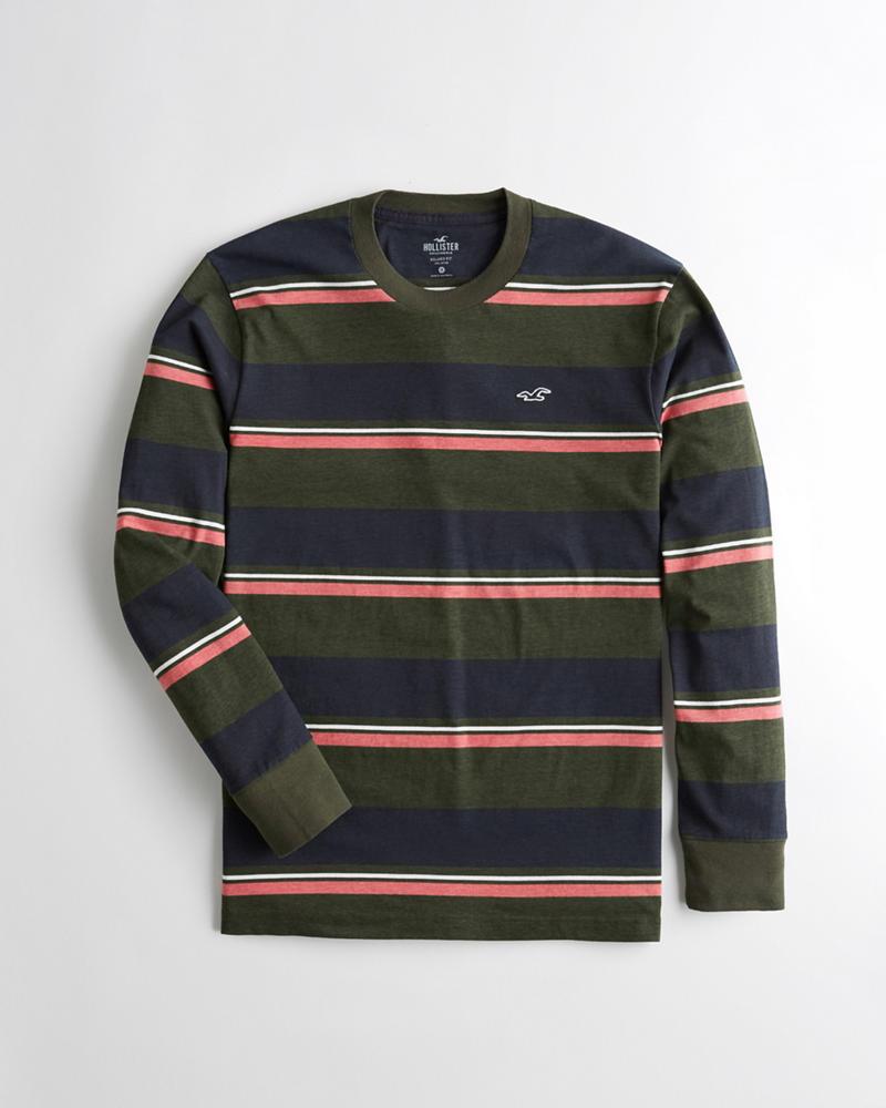 Chicos Camiseta de rayas con cuello redondo  63441e227deb9